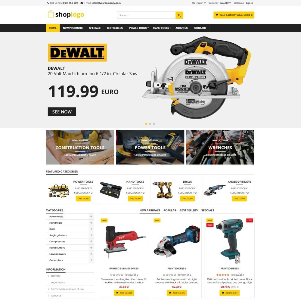 theme - Heim & Garten - P16AT12 Tools store - 1