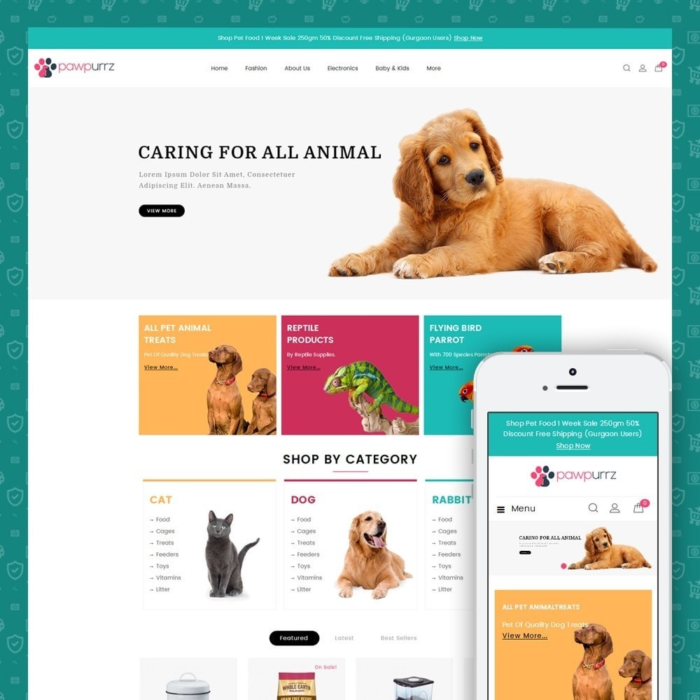 theme - Animals & Pets - PawPurrz - Pets Store - 1