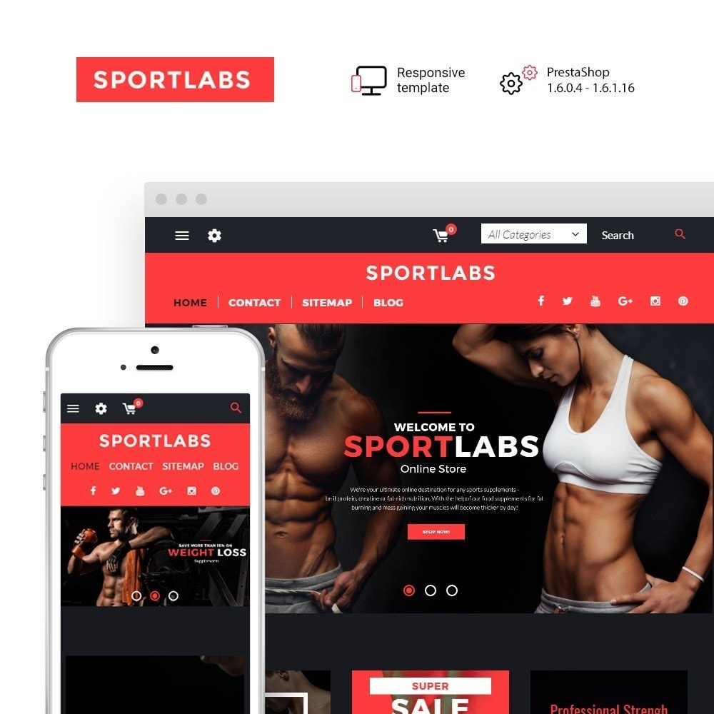 theme - Sport, Loisirs & Voyage - SportLabs - Sports Nutrition - 1