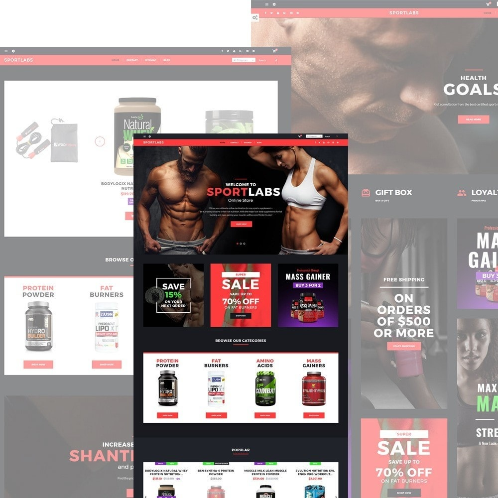 theme - Sport, Loisirs & Voyage - SportLabs - Sports Nutrition - 2