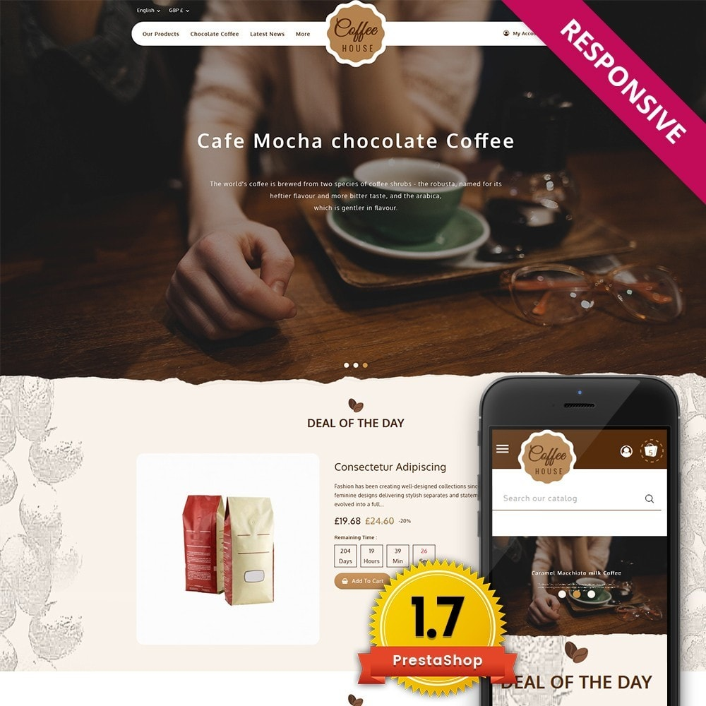 theme - Eten & Restaurant - Coffeehouse Beverage Store - 1