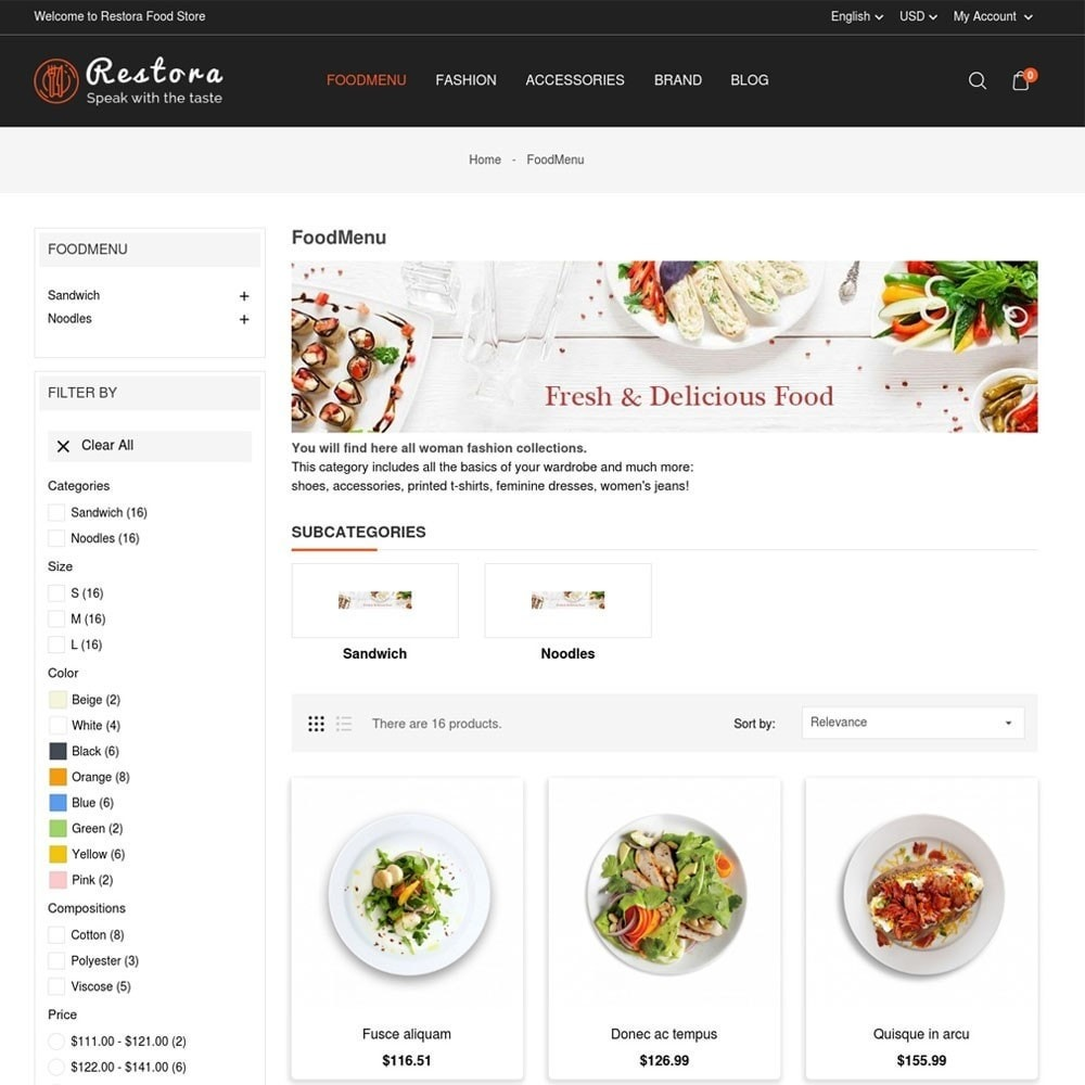 theme - Eten & Restaurant - Restora Food Store - 5