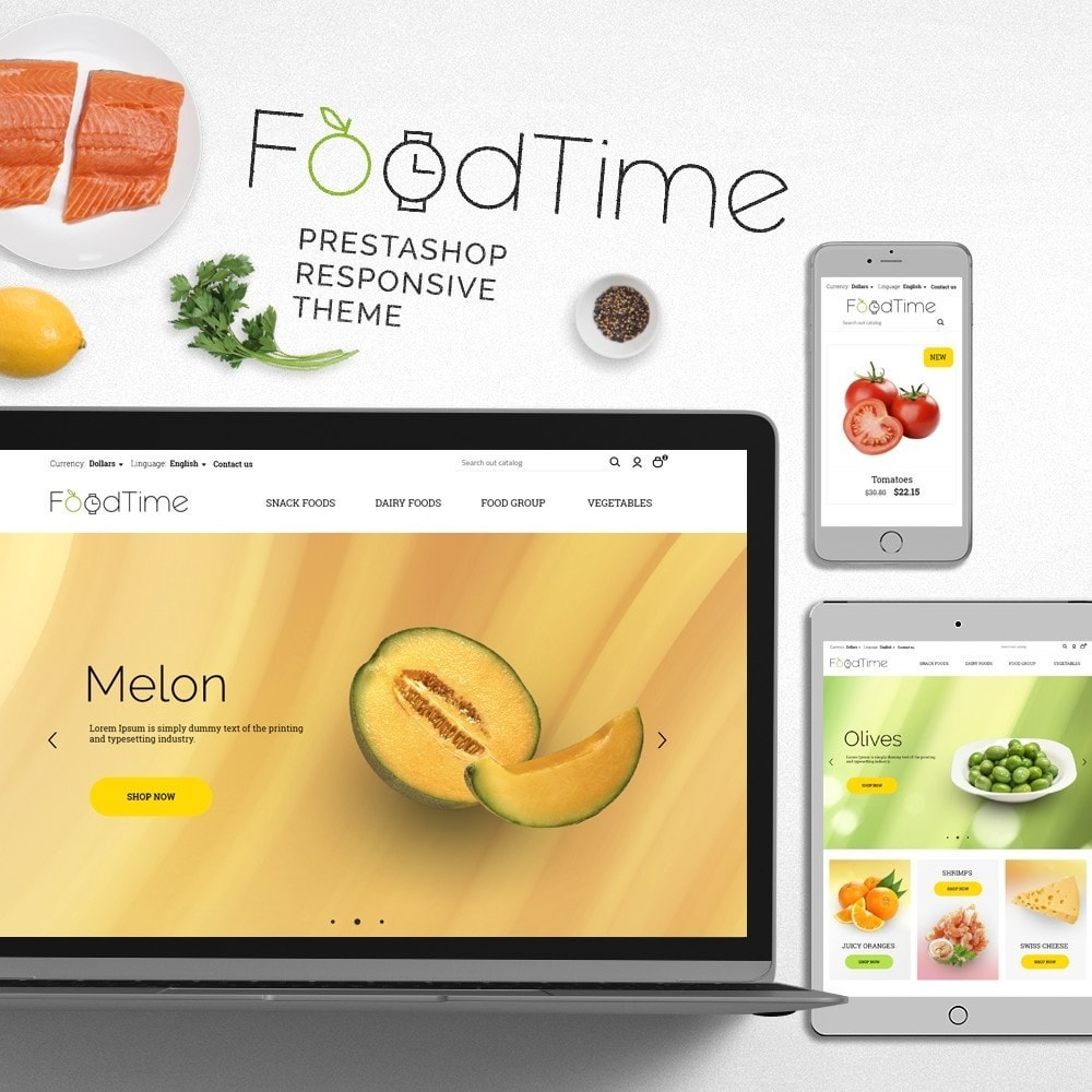 theme - Alimentation & Restauration - FoodTime - 1
