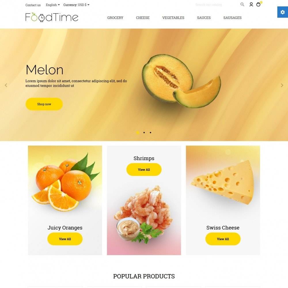 theme - Alimentation & Restauration - FoodTime - 2
