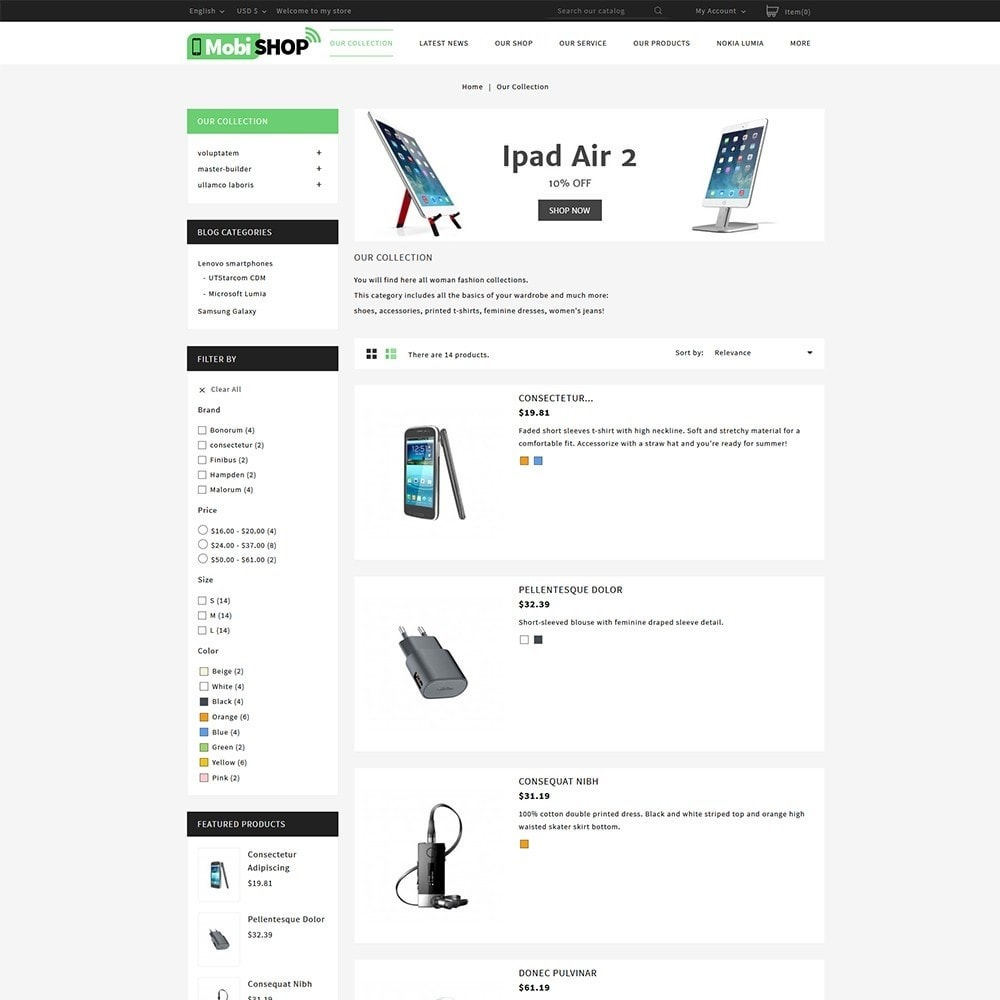 theme - PrestaShop Templates - Mobishop Onestop Mobile Store - 4