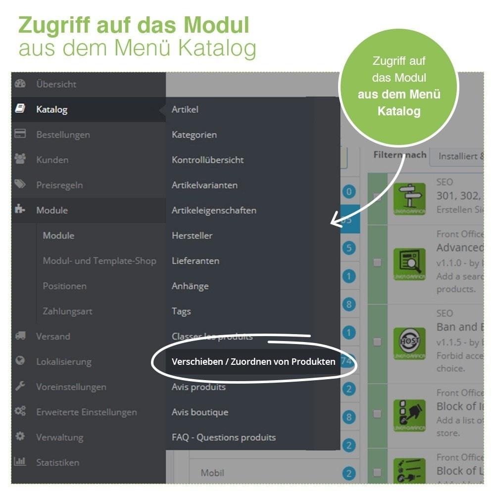 module - Quick Eingabe & Massendatenverwaltung - Verschieben und Zuordnen Produkten unter Kategorien - 9