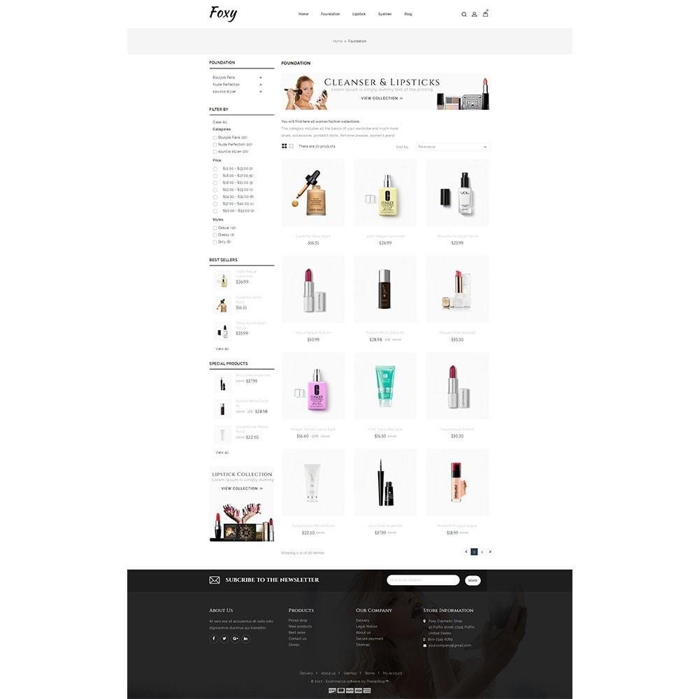 theme - Zdrowie & Uroda - Foxy Cosmetic Shop - 3