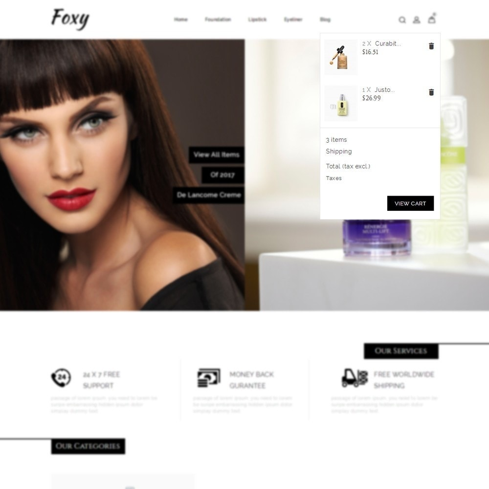 theme - Health & Beauty - Foxy Cosmetic Shop - 6