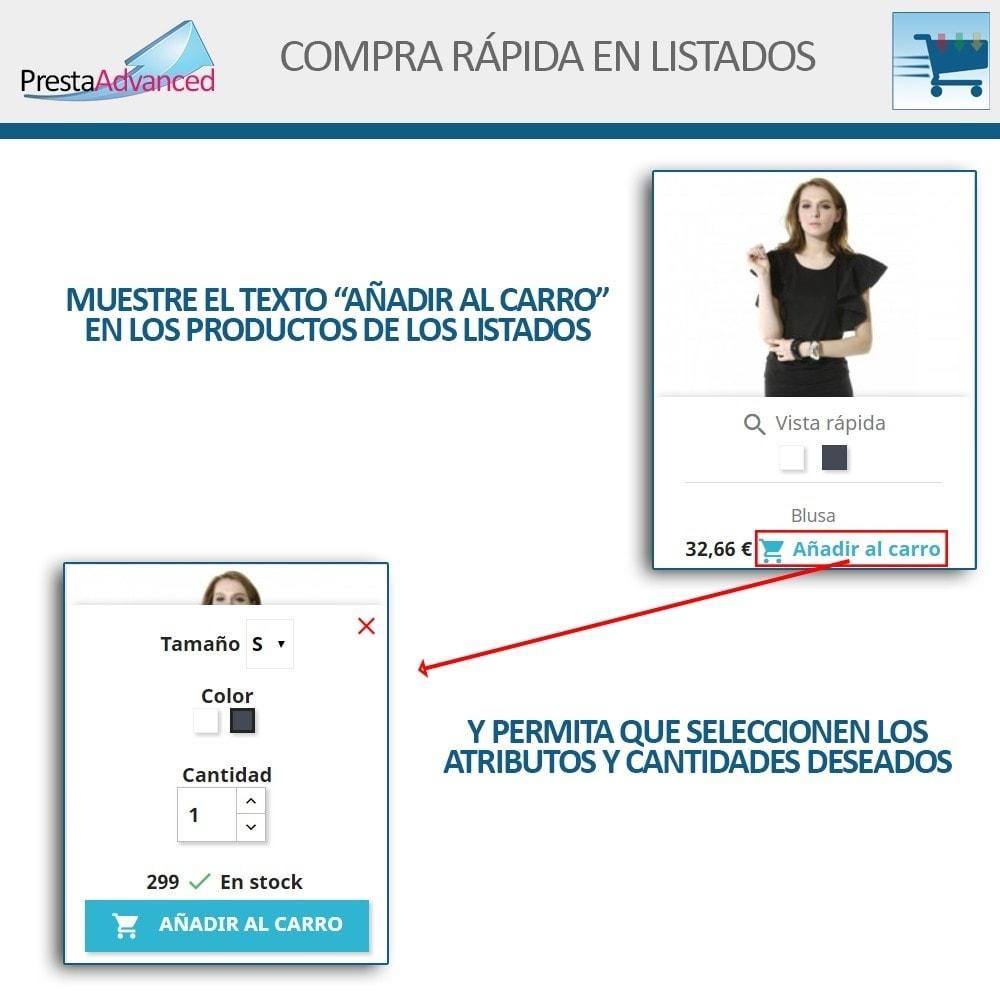 module - Proceso rápido de compra - Compra rápida desde listados - 3