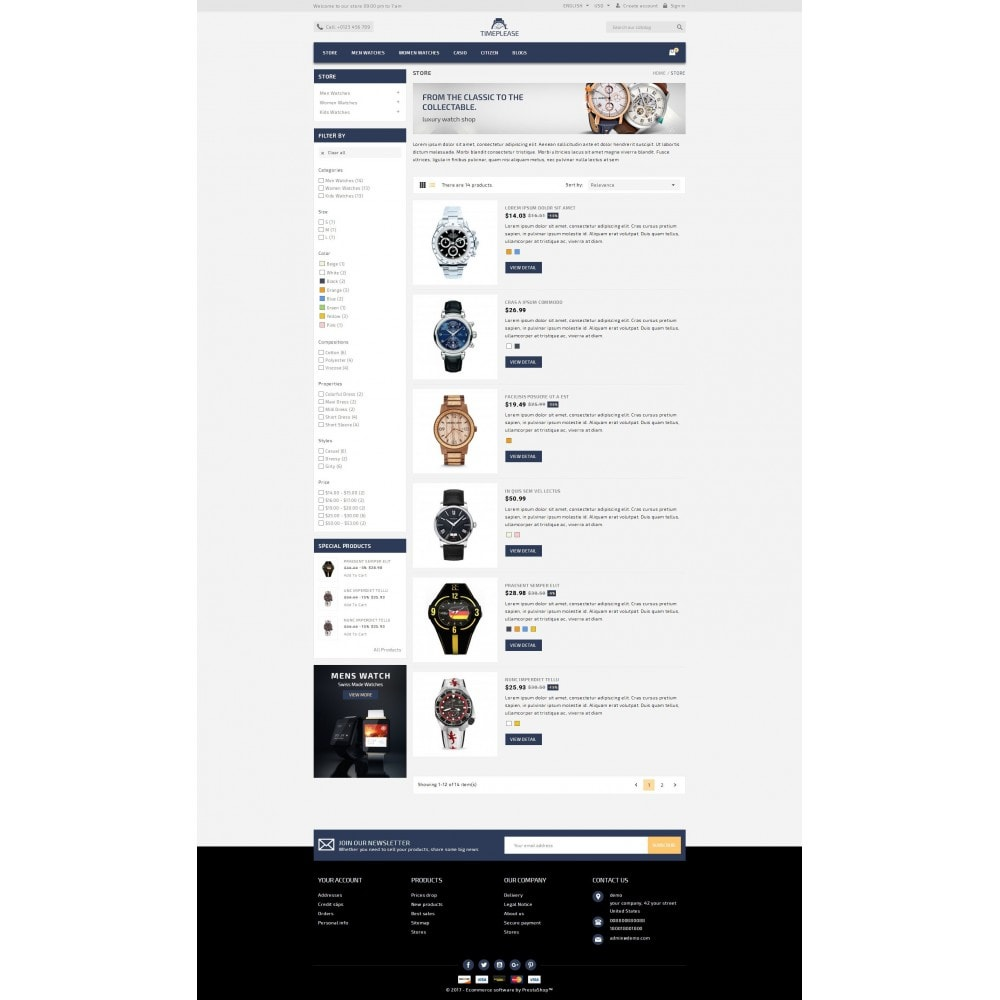 theme - Schmuck & Accesoires - Timeplease - Watchstore Template - 4