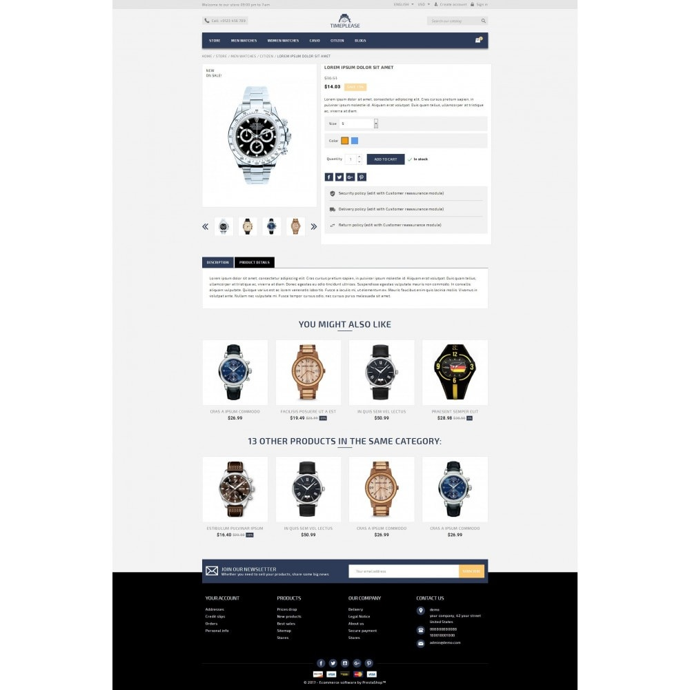 theme - Schmuck & Accesoires - Timeplease - Watchstore Template - 5