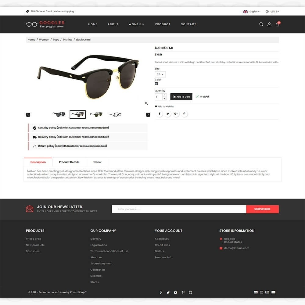 theme - Mode & Chaussures - Goggles - The Goggles Store - 5