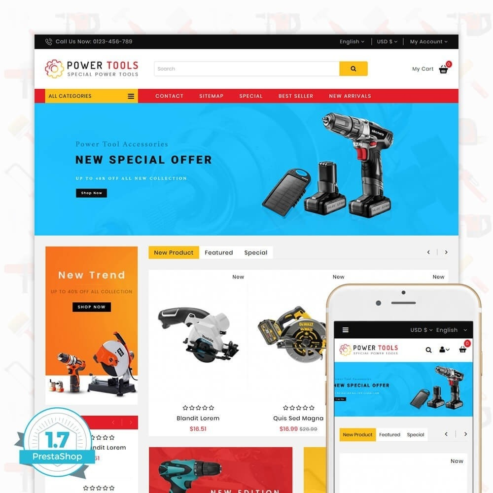 theme - Carros & Motos - Power tools - Special Power Tools - 1