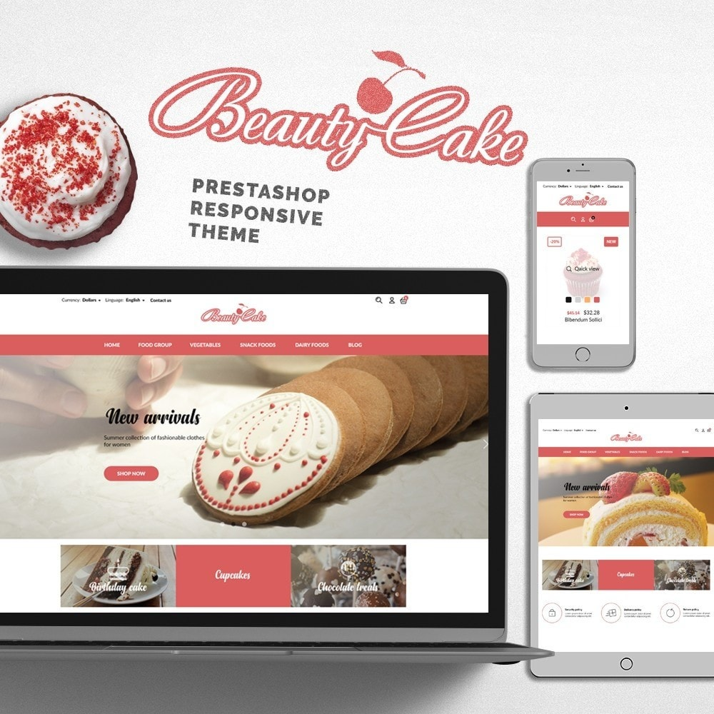 theme - Food & Restaurant - BeautyCake - 1