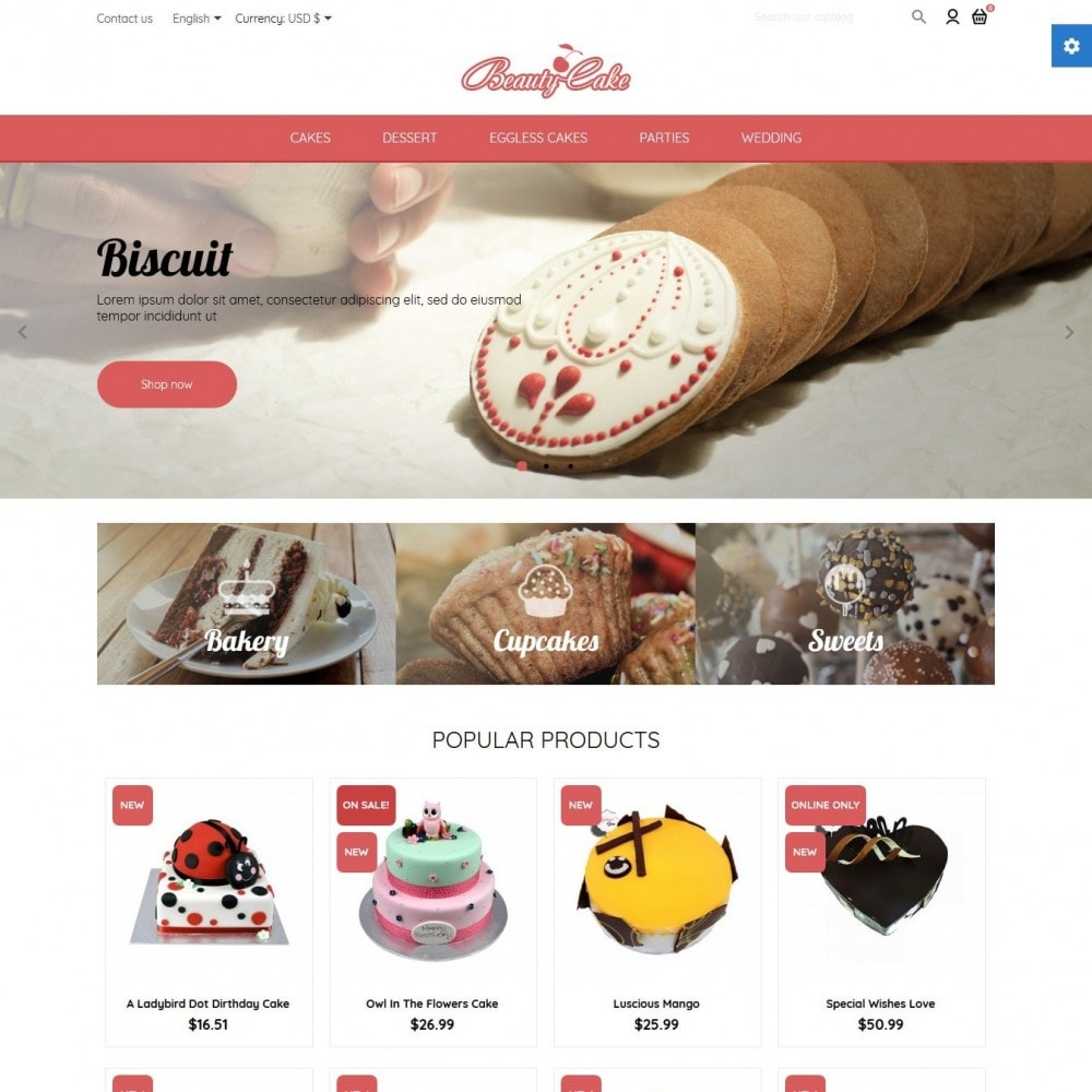 theme - Food & Restaurant - BeautyCake - 2