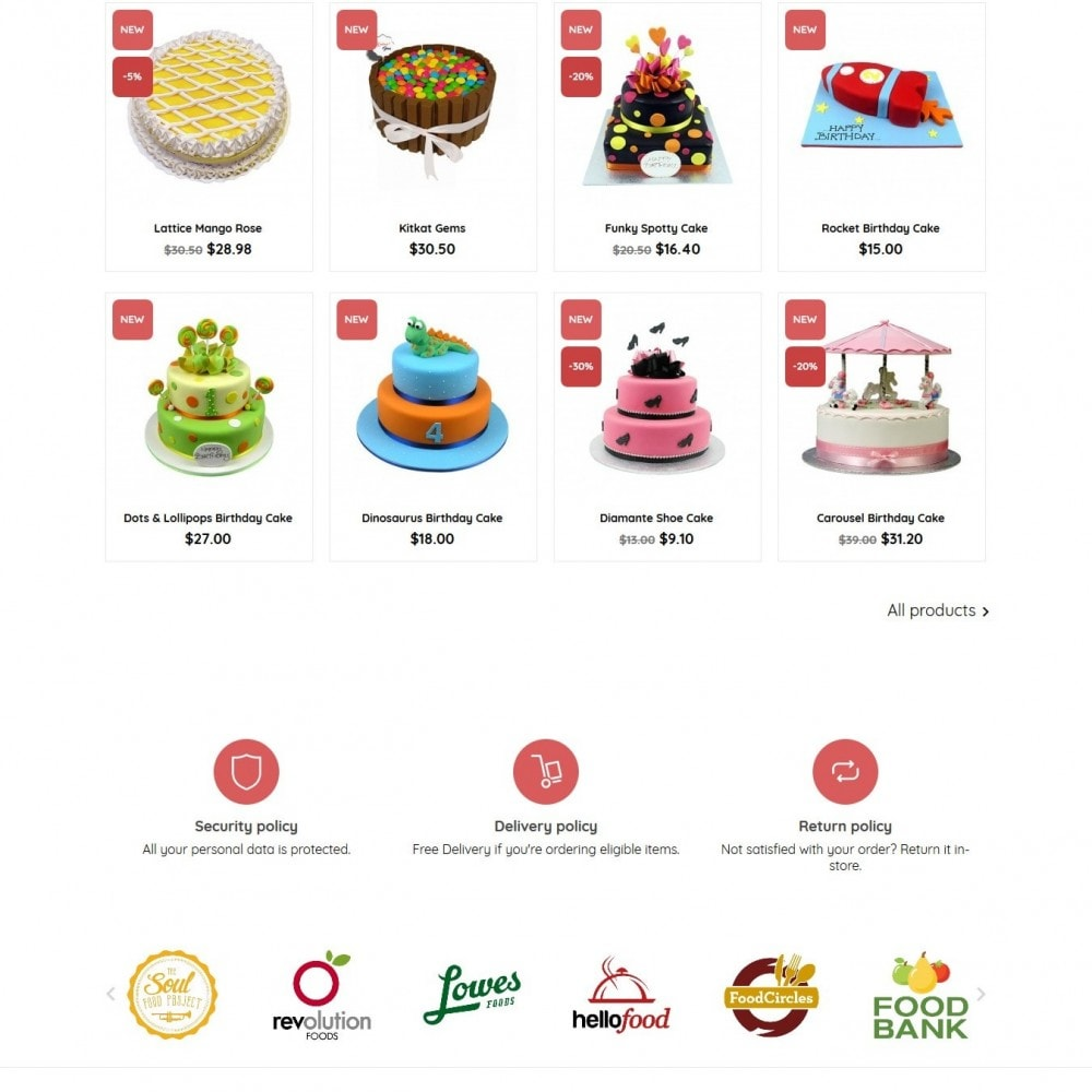 theme - Food & Restaurant - BeautyCake - 3