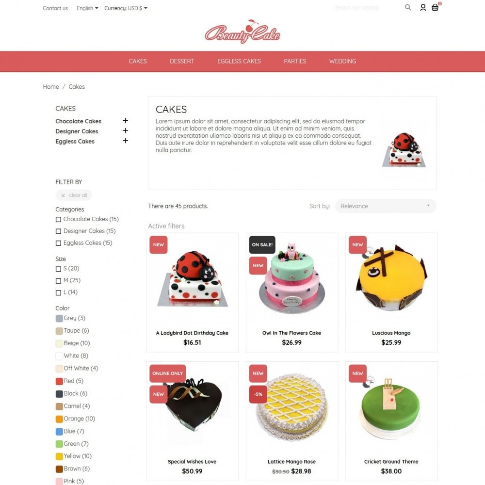 theme - Food & Restaurant - BeautyCake - 5