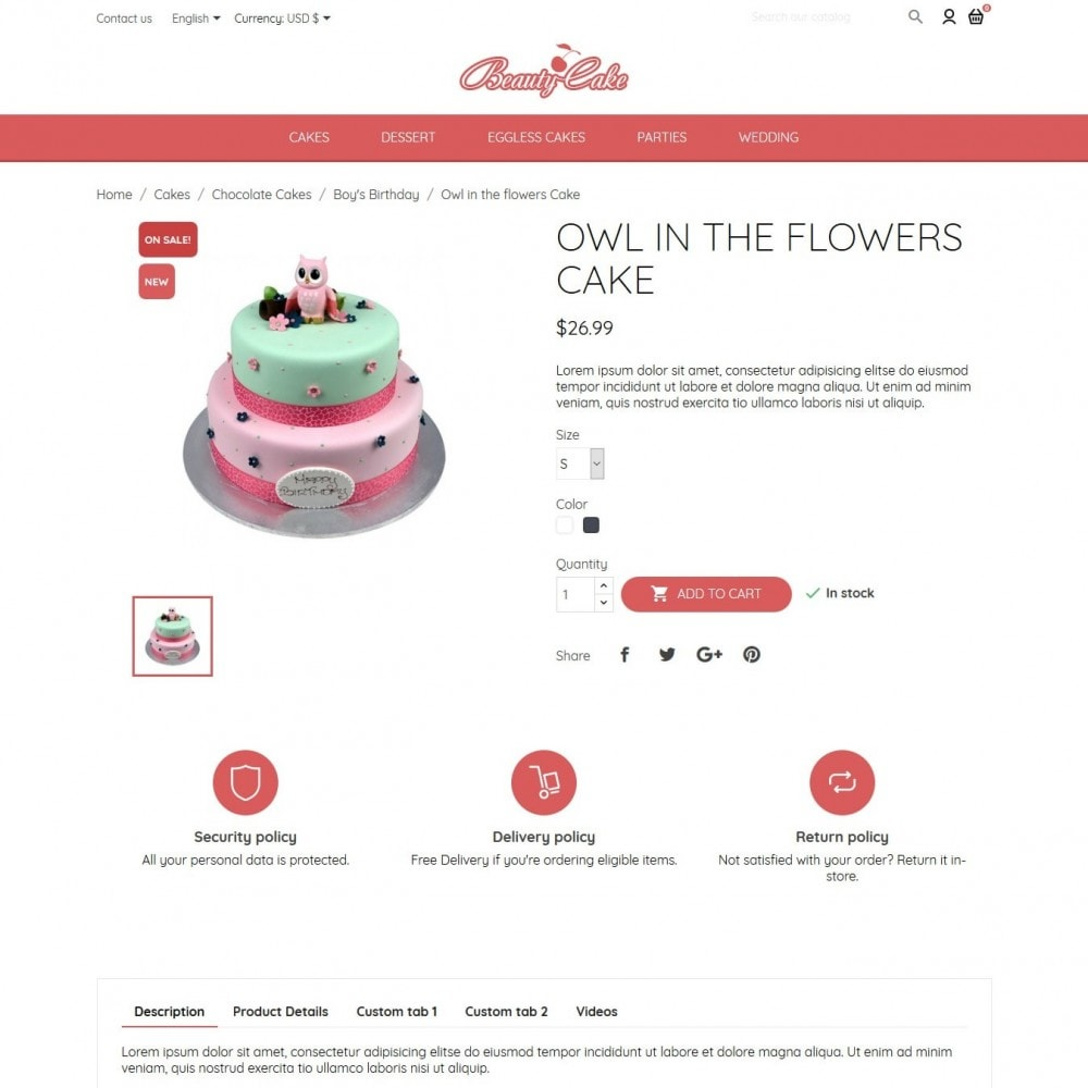 theme - Food & Restaurant - BeautyCake - 6