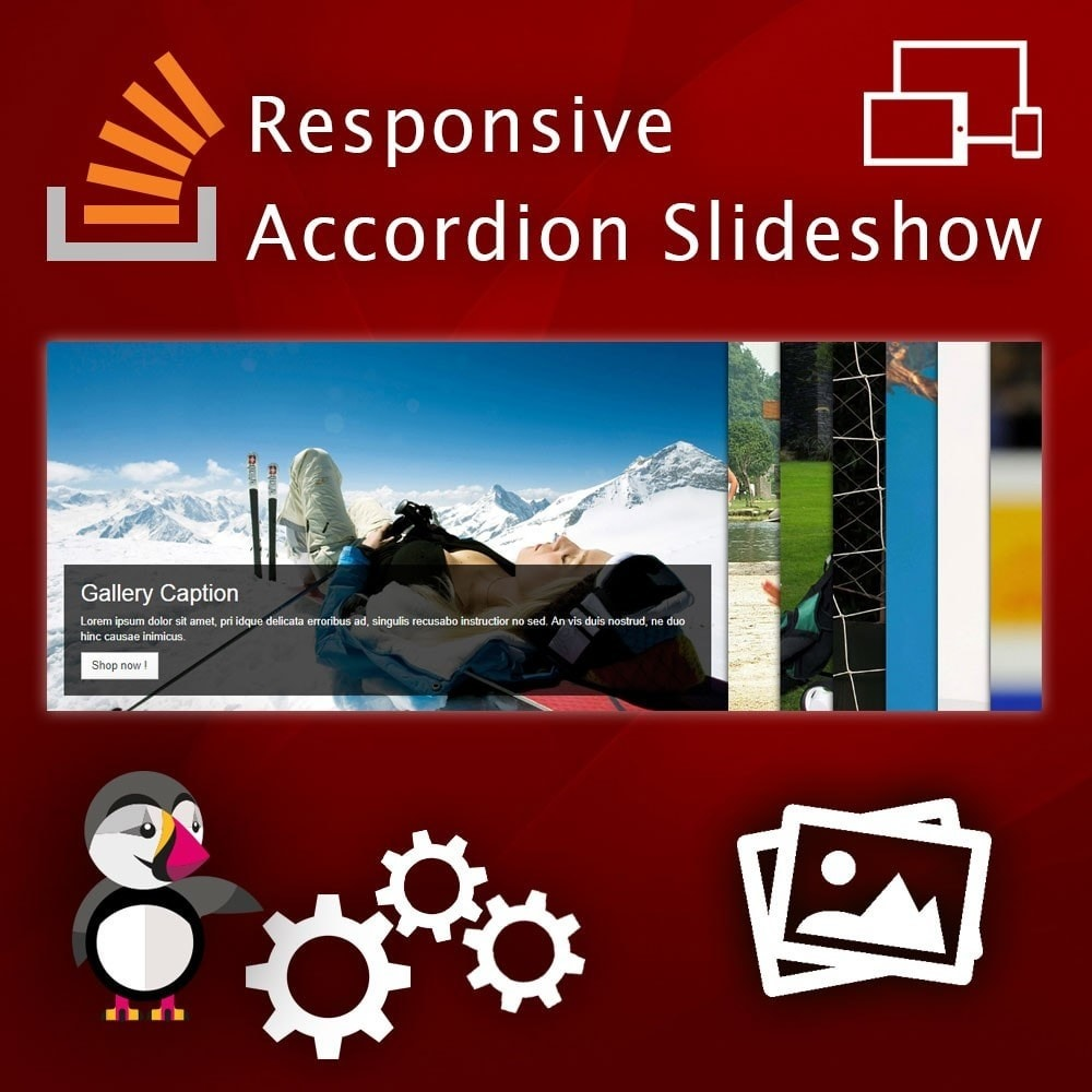 module - Sliders & Galeries - Accordion Image Gallery. Slider on Homepage. - 1