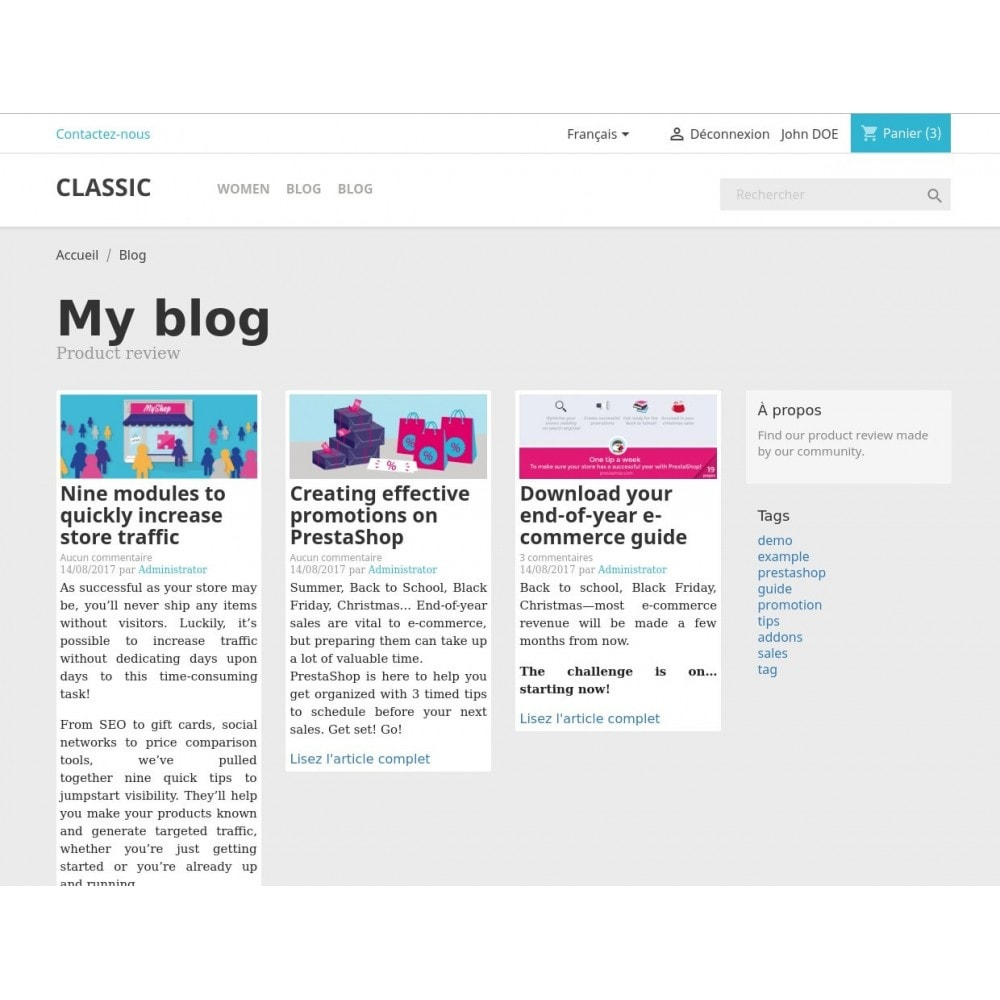module - Blog, Foro y Noticias - PrestaPress - Integrated Blog - 1