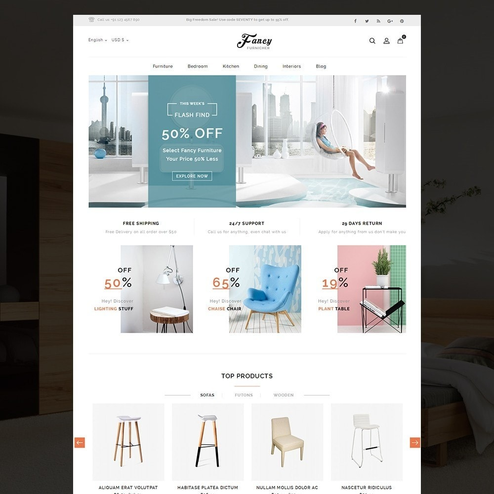 theme - Casa & Giardino - Fancy Furniture Online Store Template - 2