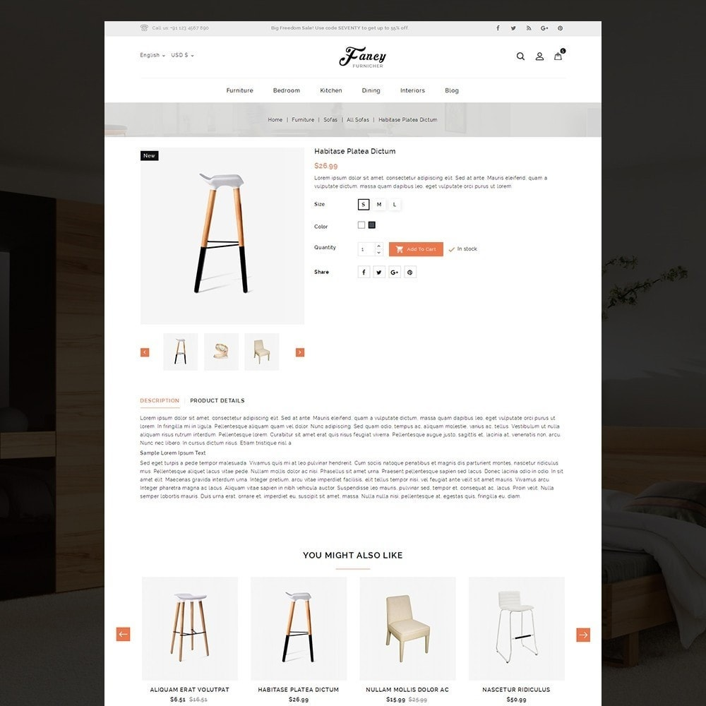 theme - Casa & Giardino - Fancy Furniture Online Store Template - 3