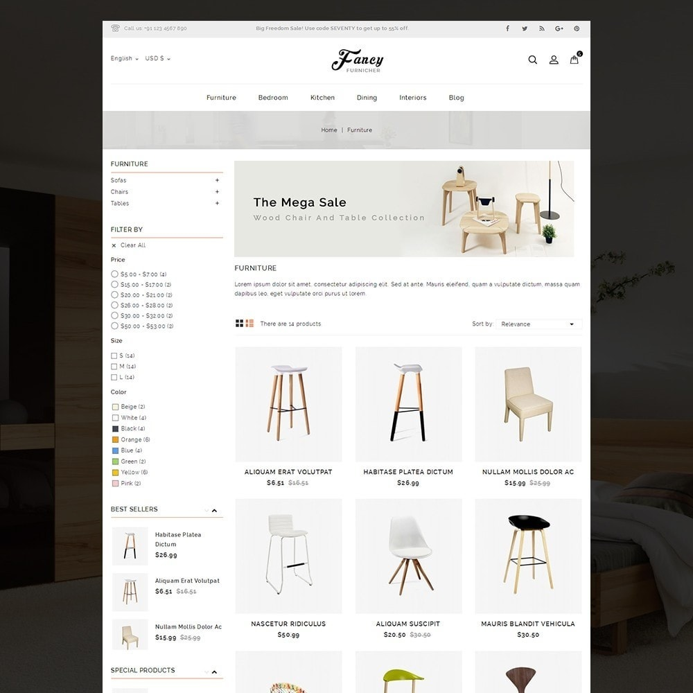 theme - Hogar y Jardín - Fancy Furniture Online Store - 4