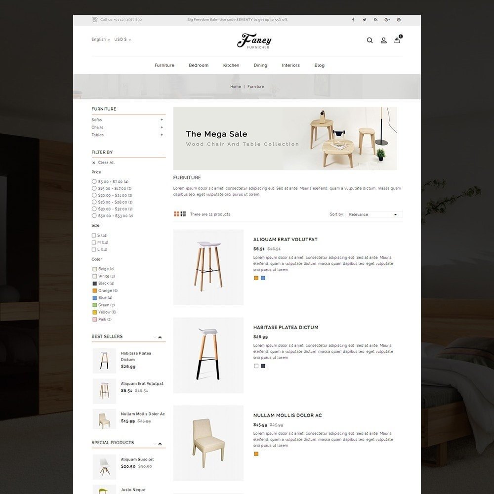 theme - Casa & Giardino - Fancy Furniture Online Store Template - 5