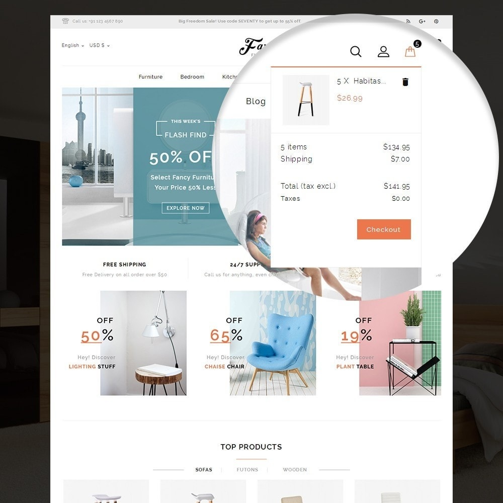theme - Casa & Giardino - Fancy Furniture Online Store Template - 6