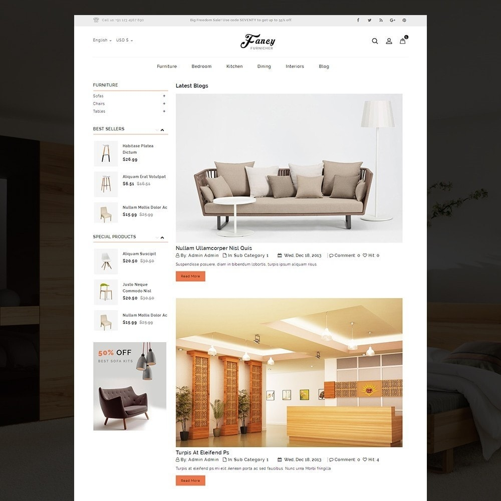 theme - Casa & Giardino - Fancy Furniture Online Store Template - 9