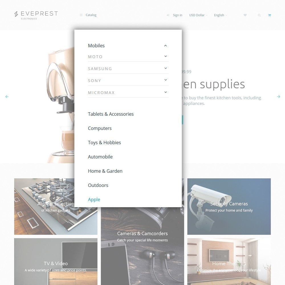 theme - Elektronik & High Tech - Eveprest - Electronics PrestaShop Theme - 4