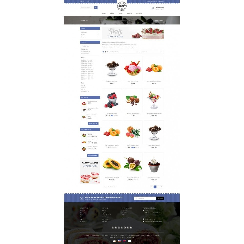 theme - Продовольствие и рестораны - Online Bakery Store - 3