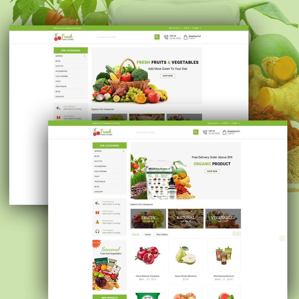 theme - Eten & Restaurant - Fresh Food Store - 2