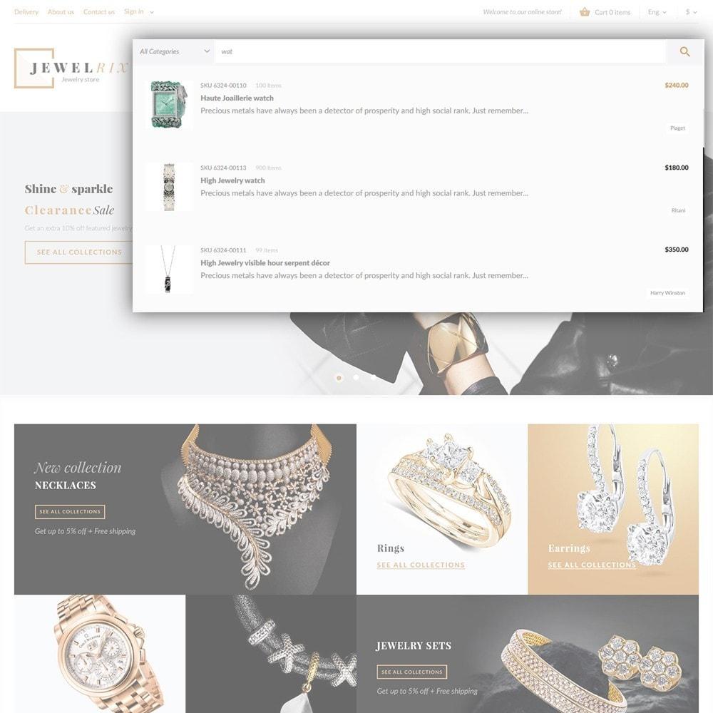 theme - Moda & Calzature - Jewelrix - Theme per Un Sito di Gioielli - 5