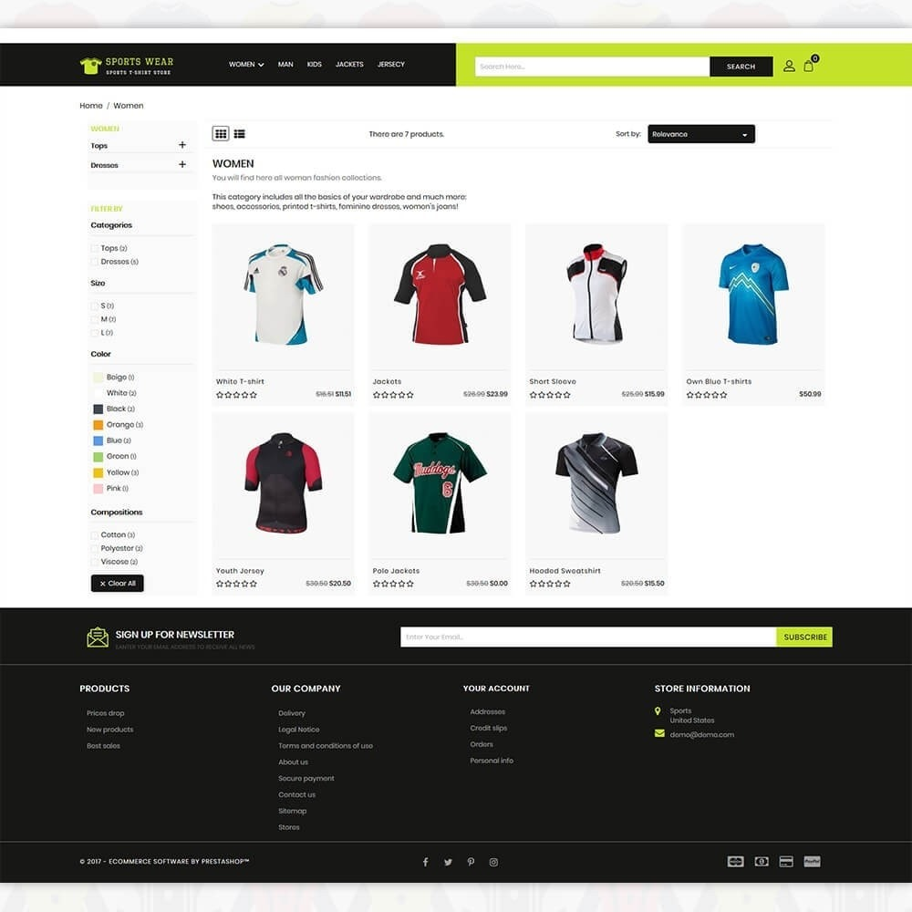 theme - Спорт и Путешествия - Sports Wear - The Sports T-shirt store - 3