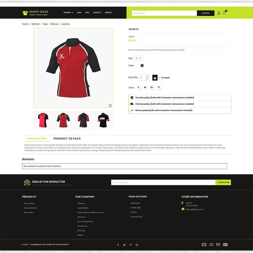 theme - Спорт и Путешествия - Sports Wear - The Sports T-shirt store - 5