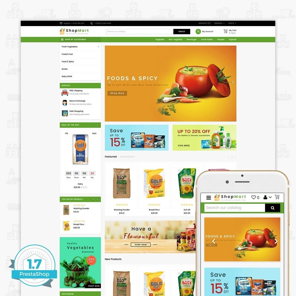 theme - Maison & Jardin - ShopMart - The Special Grocery Store - 1