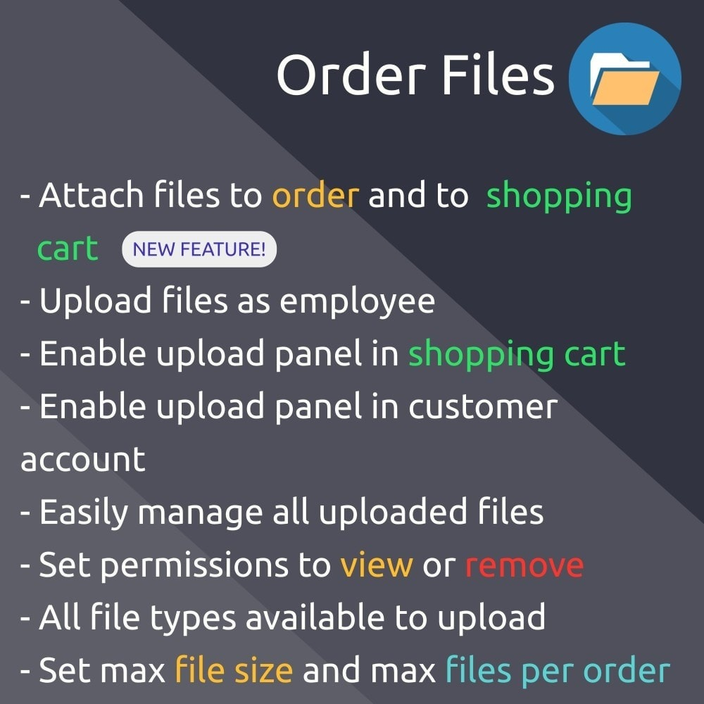 module - Inscription & Processus de commande - Order Files upload and attach files to orders - 1