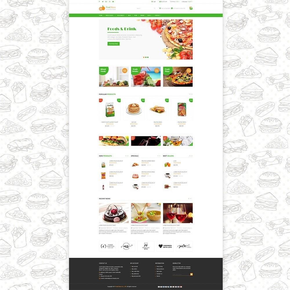 theme - Lebensmittel & Restaurants - Food store - Fresh foods,  drinks and fruit store - 2