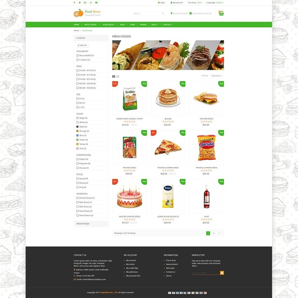 theme - Cibo & Ristorazione - Food store - Fresh foods,  drinks and fruit store - 3