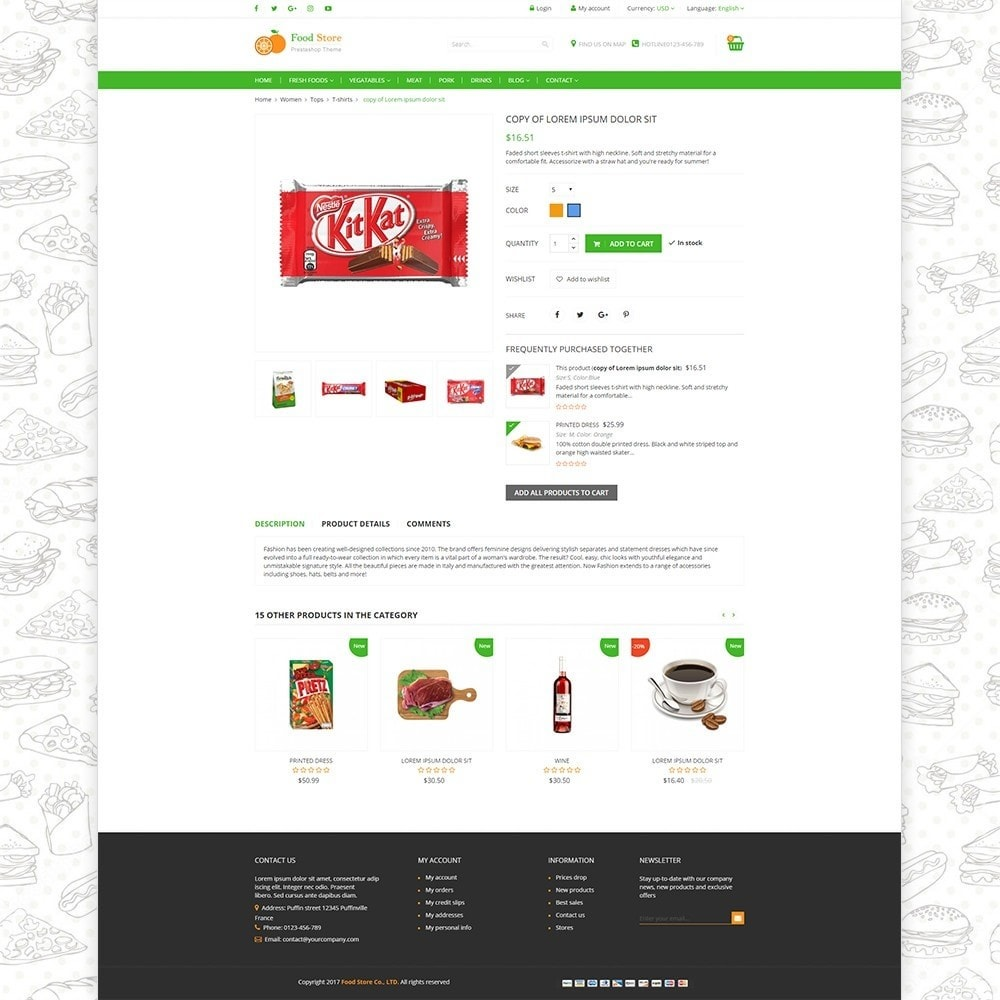 theme - Żywność & Restauracje - Food store - Fresh foods,  drinks and fruit store - 4