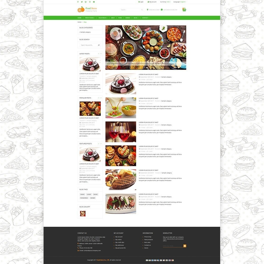 theme - Alimentation & Restauration - Food store - Fresh foods,  drinks and fruit store - 5