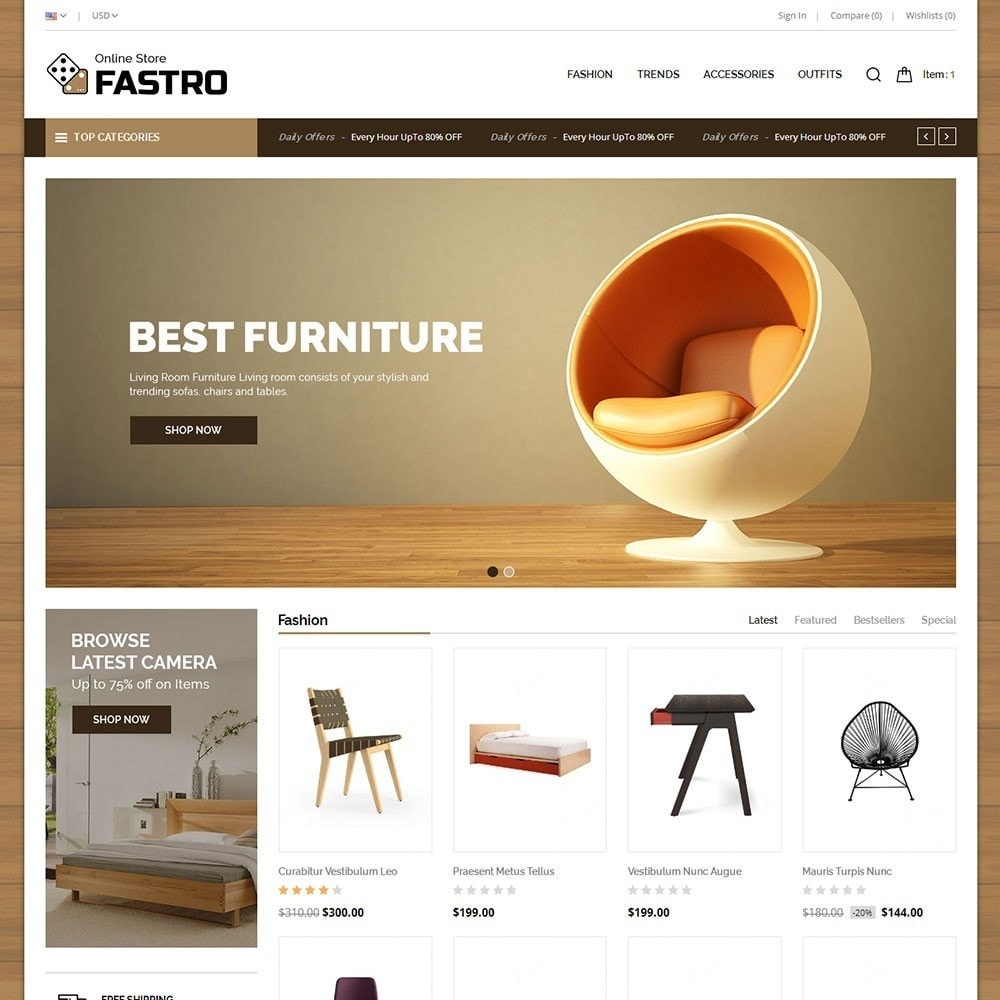 theme - Casa & Jardins - Fastro Furniture Shop - 2