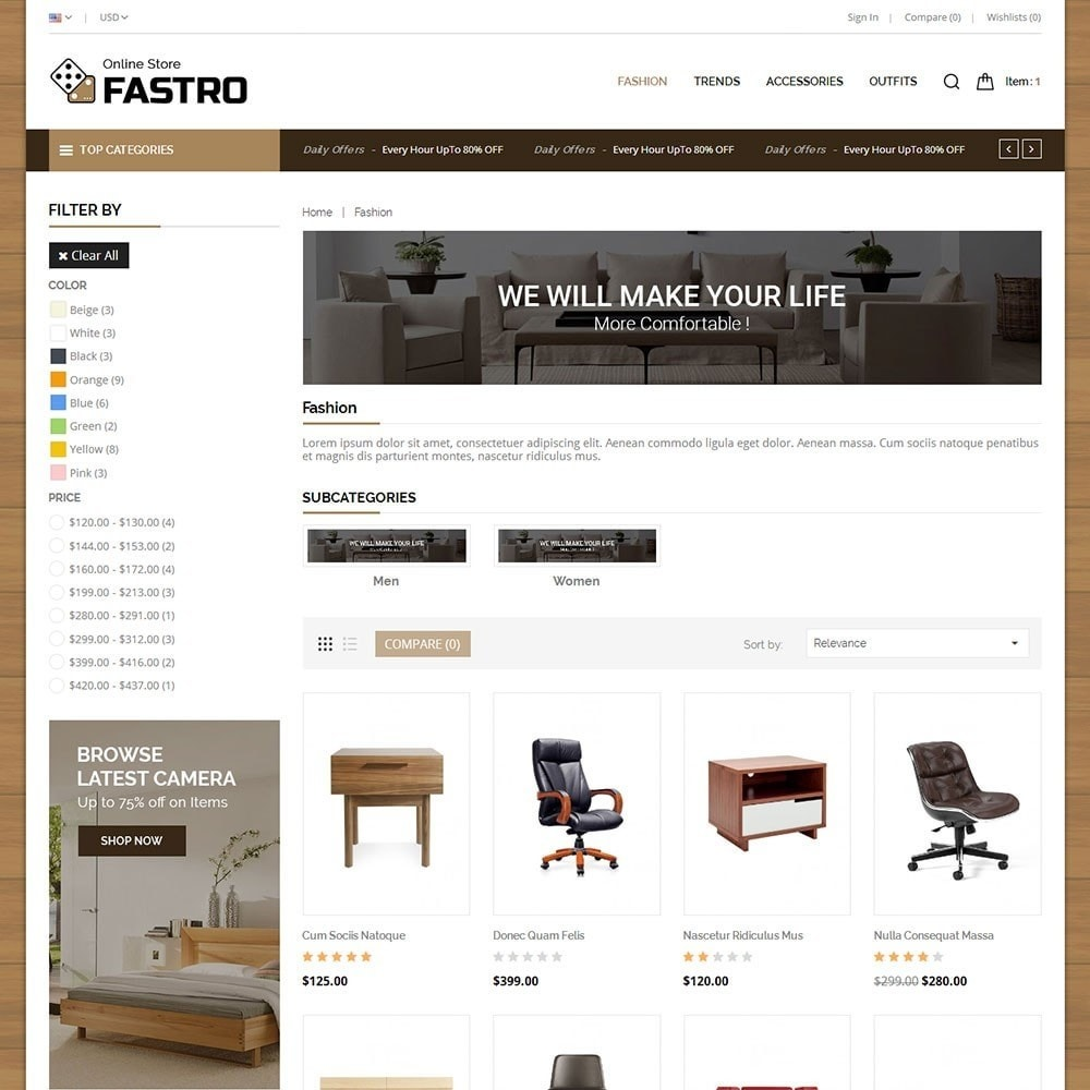 theme - Home & Garden - Fastro Furniture Shop - 3