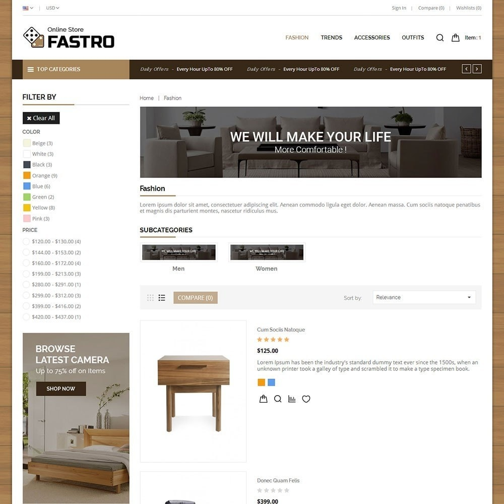 theme - Casa & Jardins - Fastro Furniture Shop - 4