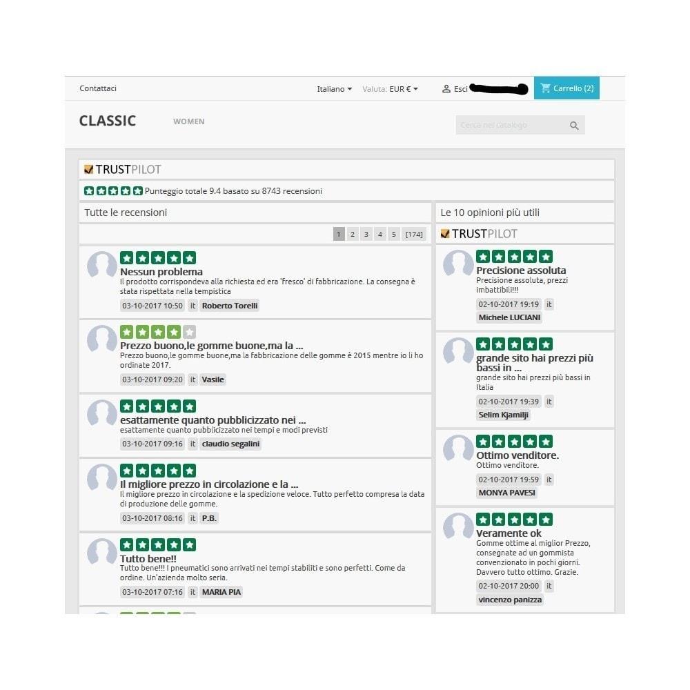 module - Recensioni clienti - ITC TrustPilot Manager - 10