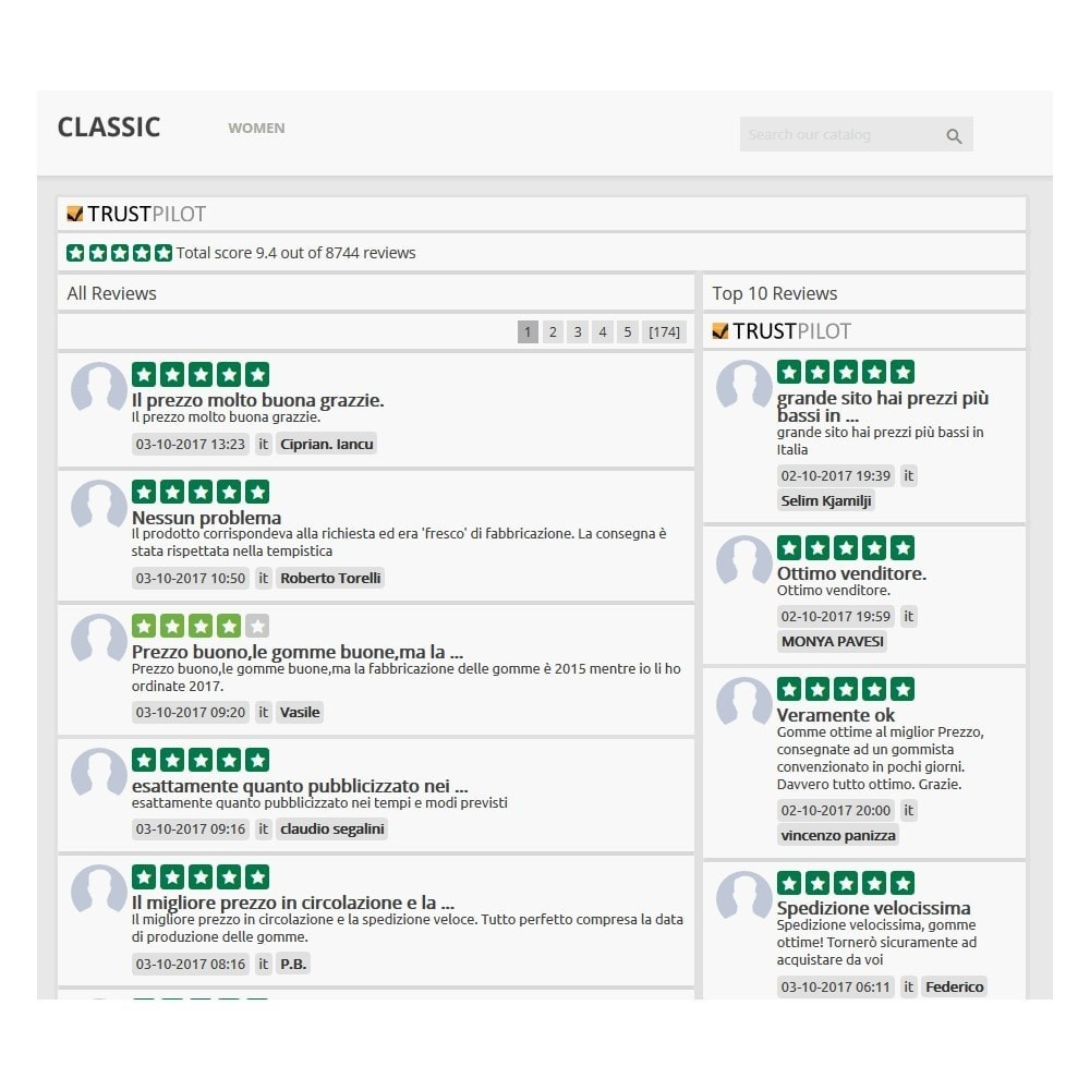 module - Customer Reviews - ITC TrustPilot Manager - 10