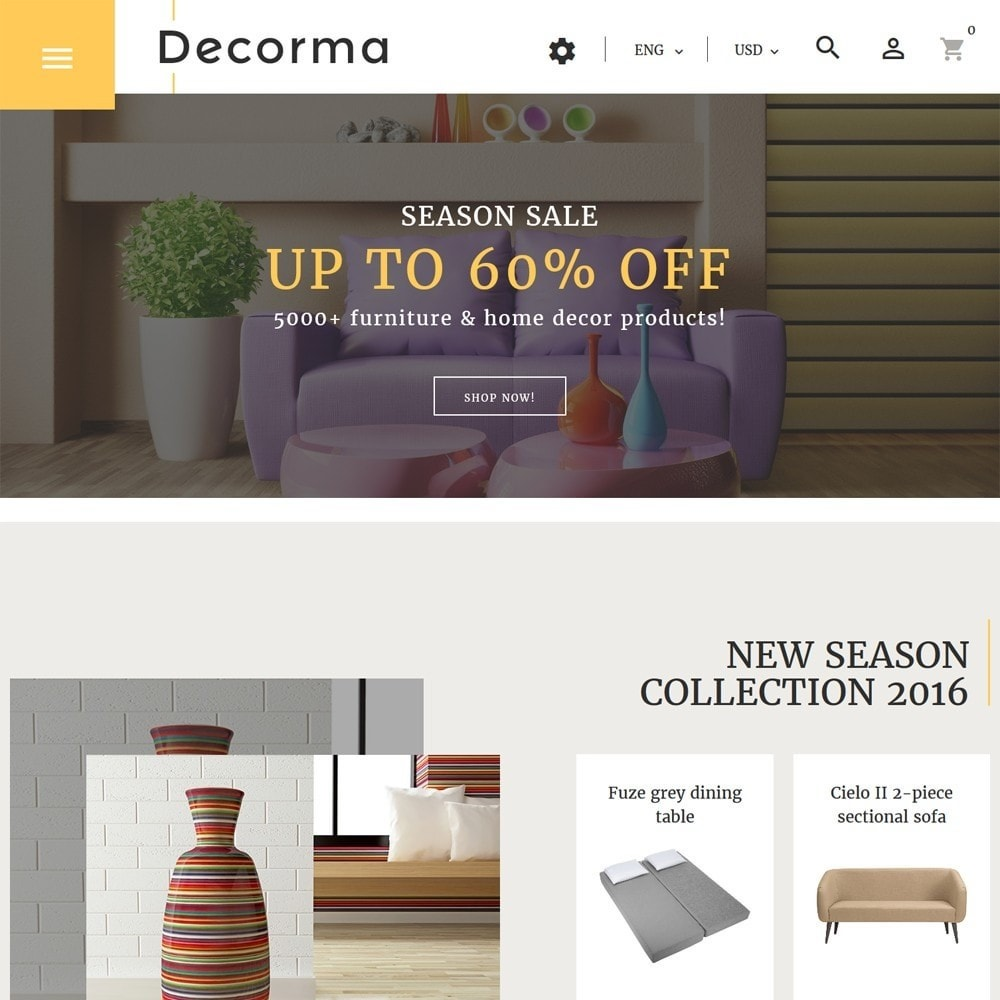 theme - Art & Culture - Decorma - Furniture Responsive - 2