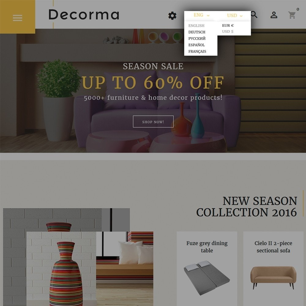 theme - Art & Culture - Decorma - Furniture Responsive - 6