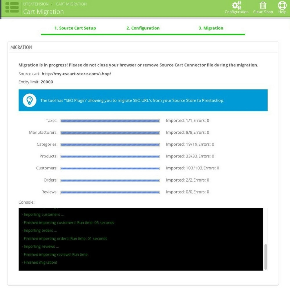 module - Datenmigration & Backup - LitExtension: Loaded Commerce to Prestashop Migration - 5